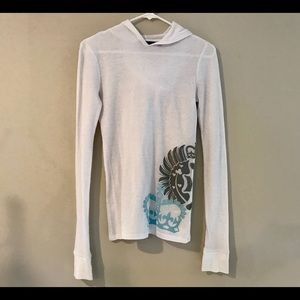 Hurley Juniors Light Hooded Thermal Shirt!